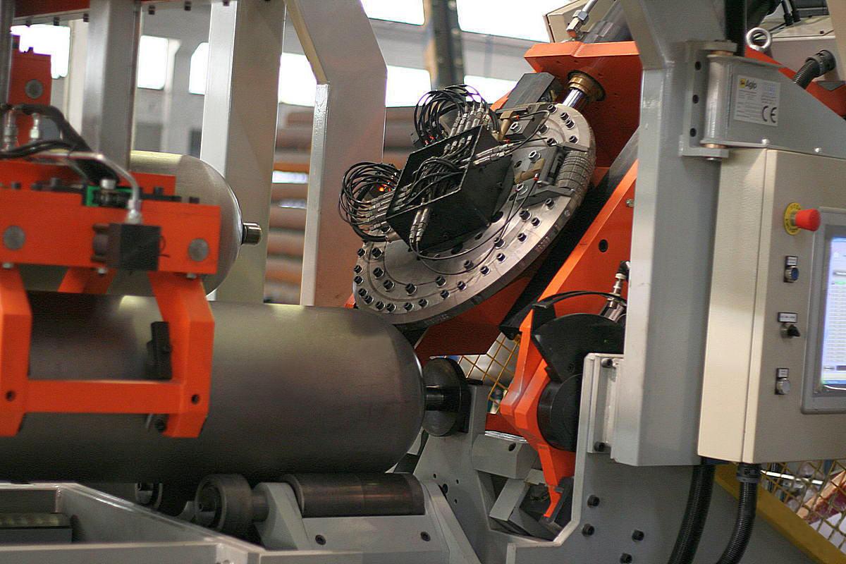 Gas cylinders marking machine